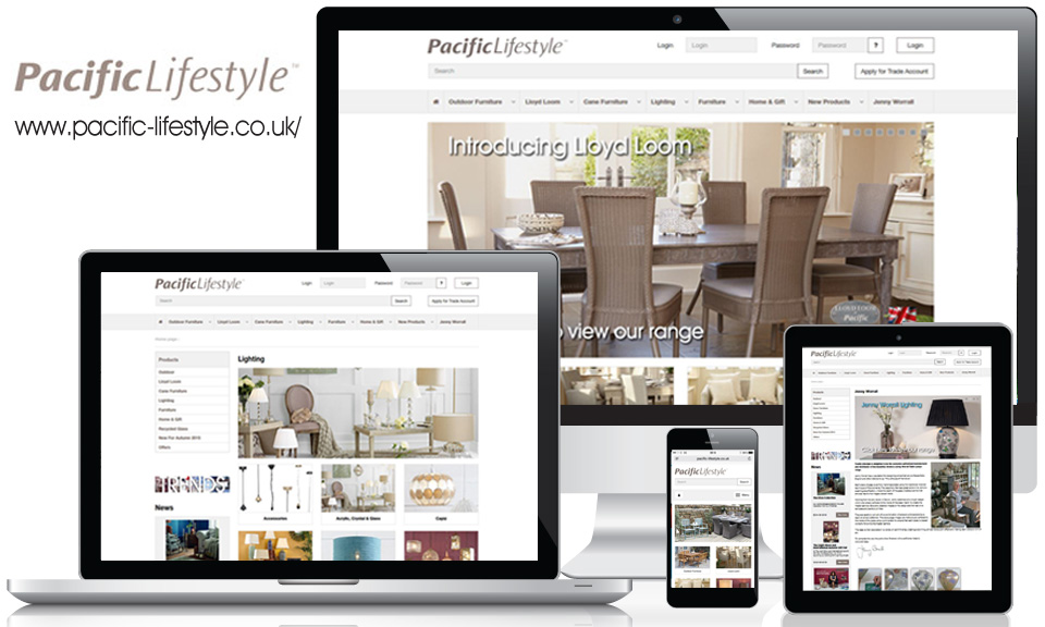 Pacific Lifestyle new responsive ecommerce website