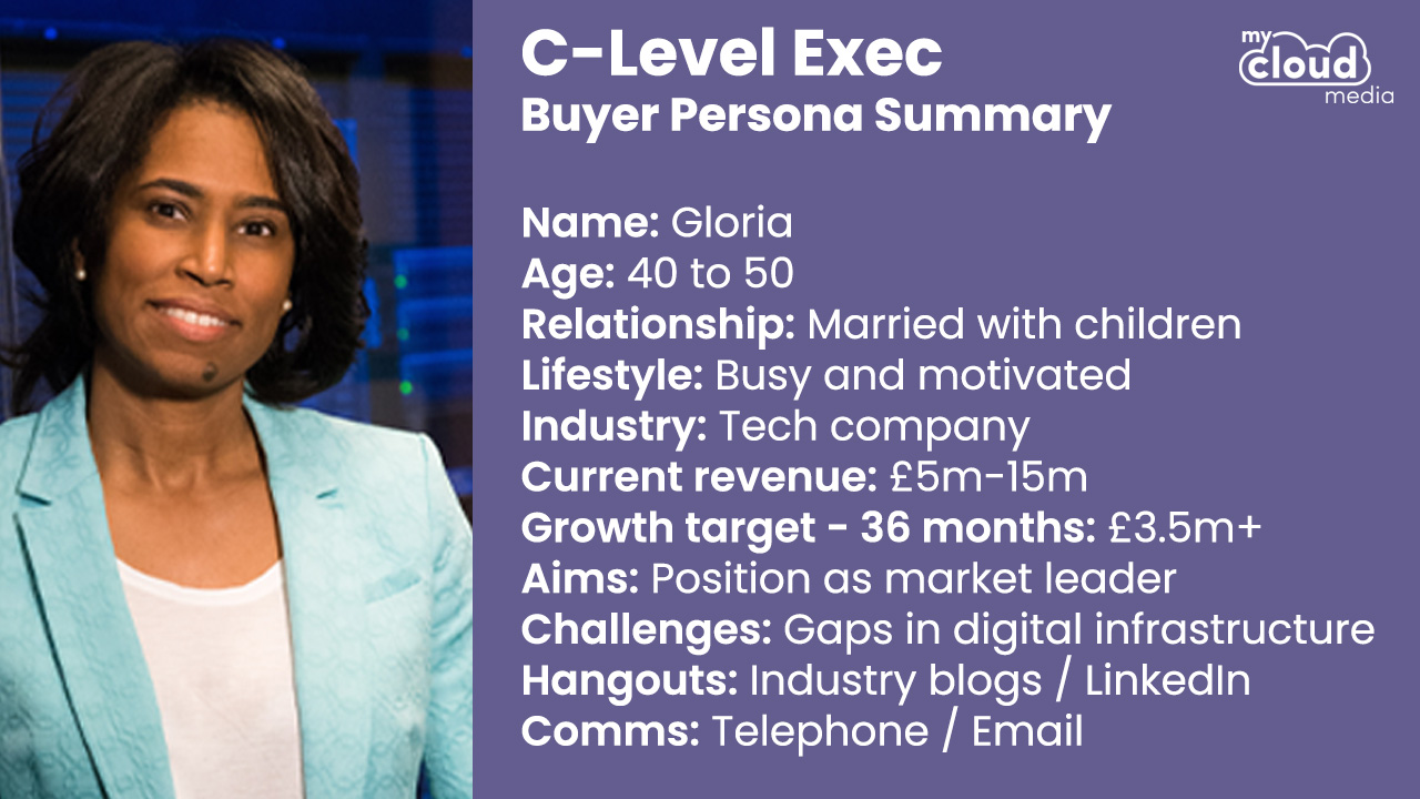 C-Level Exec Buyer Persona - My Cloud Media
