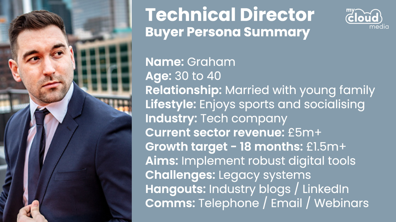 Technical Director Buyer Persona - My Cloud Media