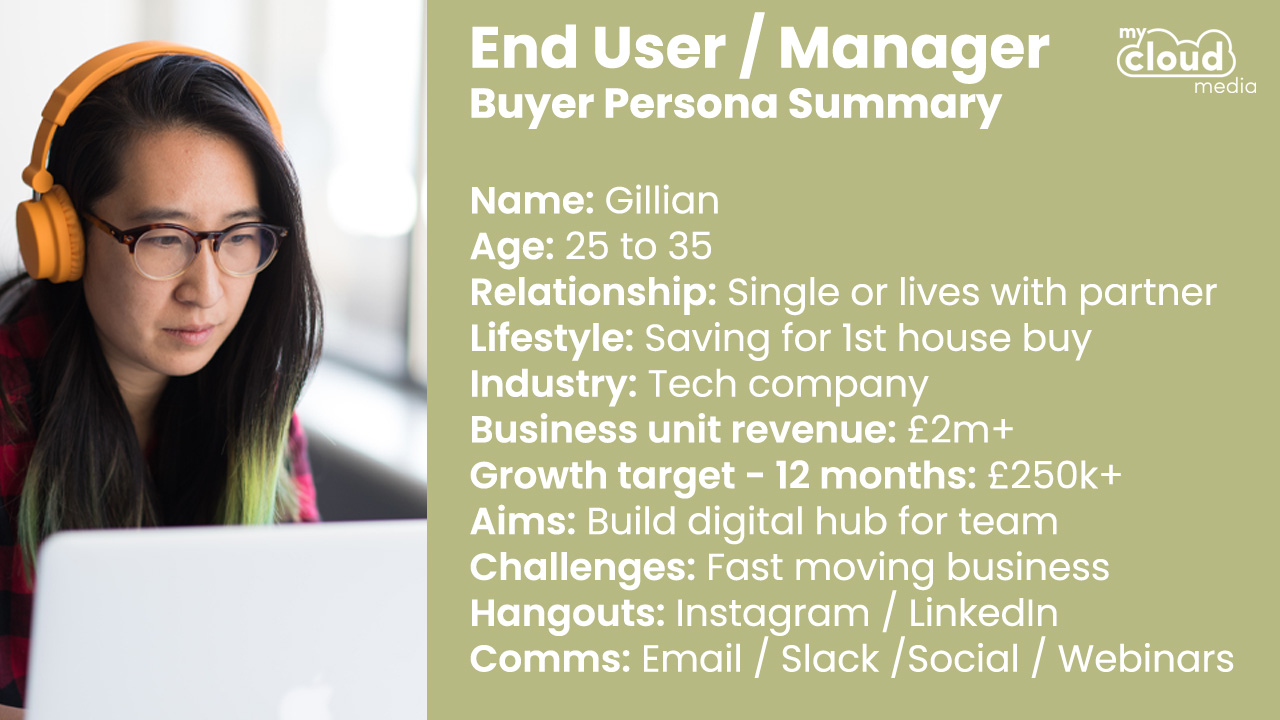 End-User / Manager Buyer Persona - My Cloud Media