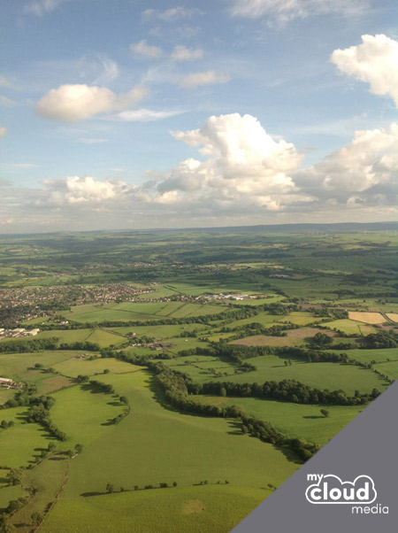 View from the top of Emley Moor Mast