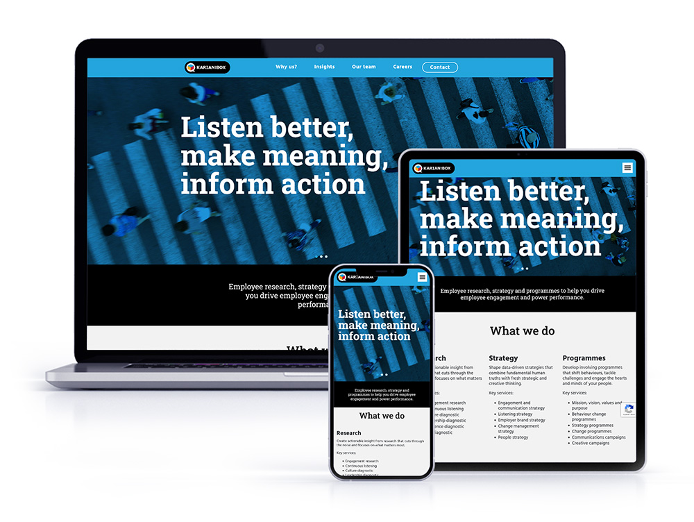 Karian and Box - Corporate Website - Responsive Design
