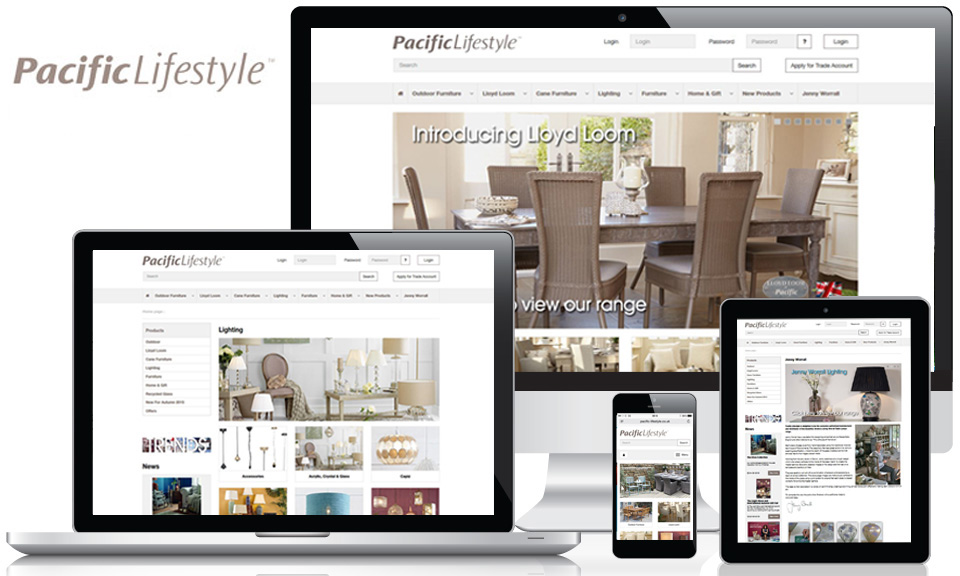 Pacific Lifestyle ecommerce website