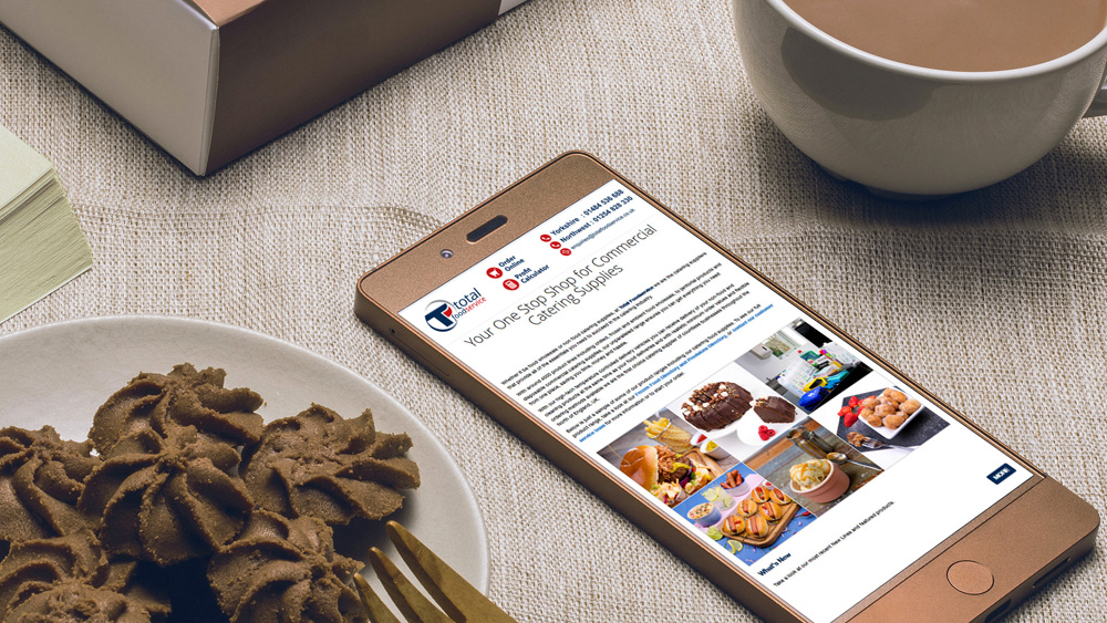 Total Food Service mobile friendly website