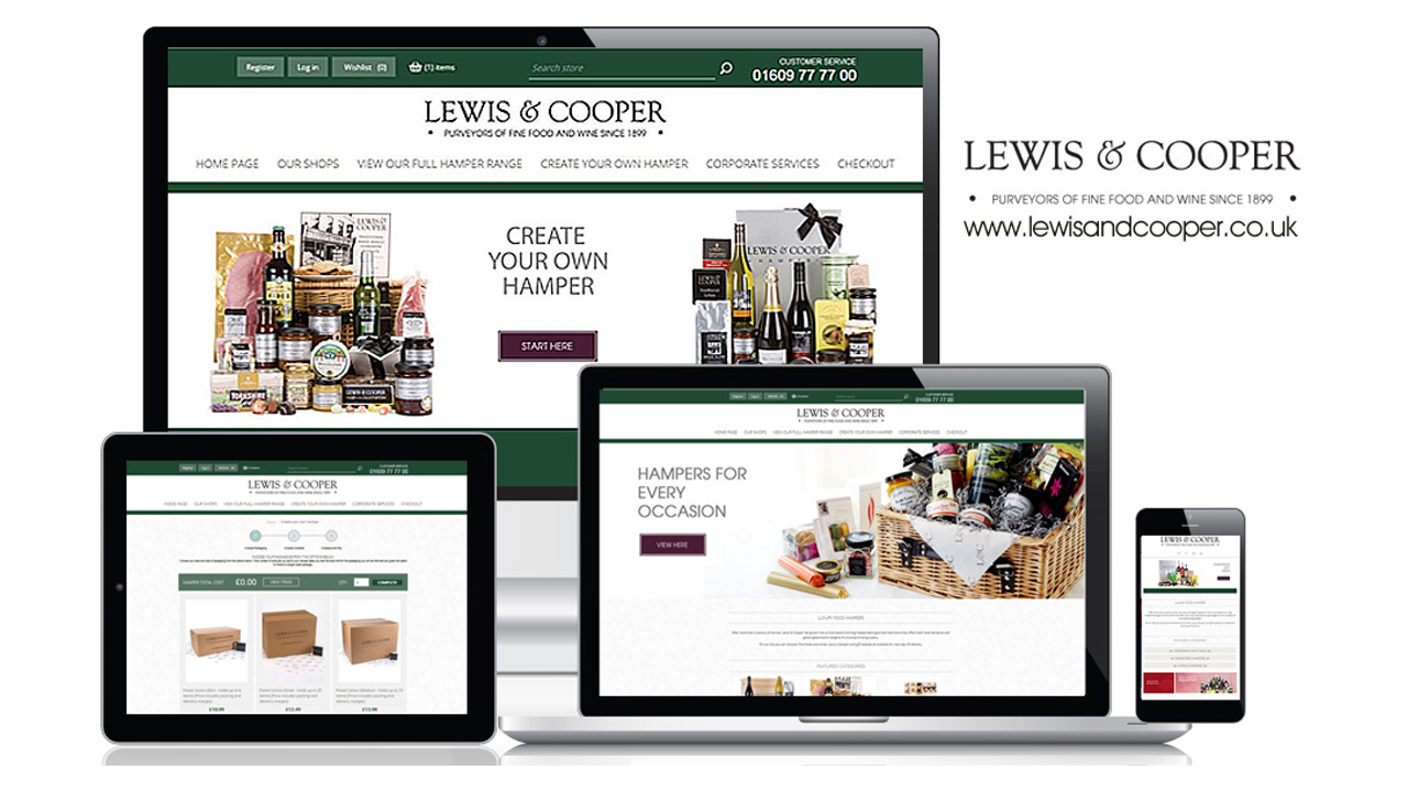 Lewis & Cooper Ecommerce Website with ERP Integration