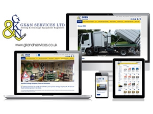 G K & N Services - Responsive Ecommerce Website