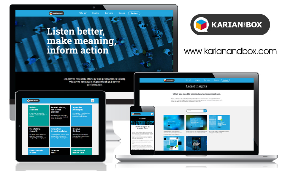 Karian and Box - Corporate Website - Responsive Design