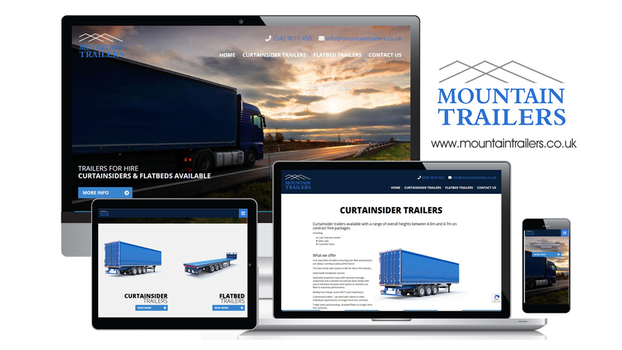 Mountain Trailers Rentals Website